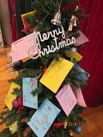 クラスの取り組みを書いたクリスマスカード